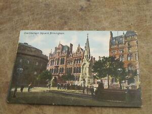 1905 fr Postcard - Chamberlain Square scene, Birmingham