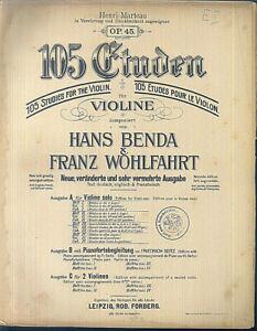 Hand-Benda-amp-Franz-Wohlfahrt-105-Etueden-fuer-Violine-Heft-3