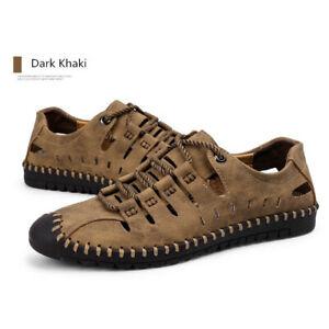 Men-British-Business-Casual-Leather-Shoes-Peas-Shoes-Dark-Khaki-39