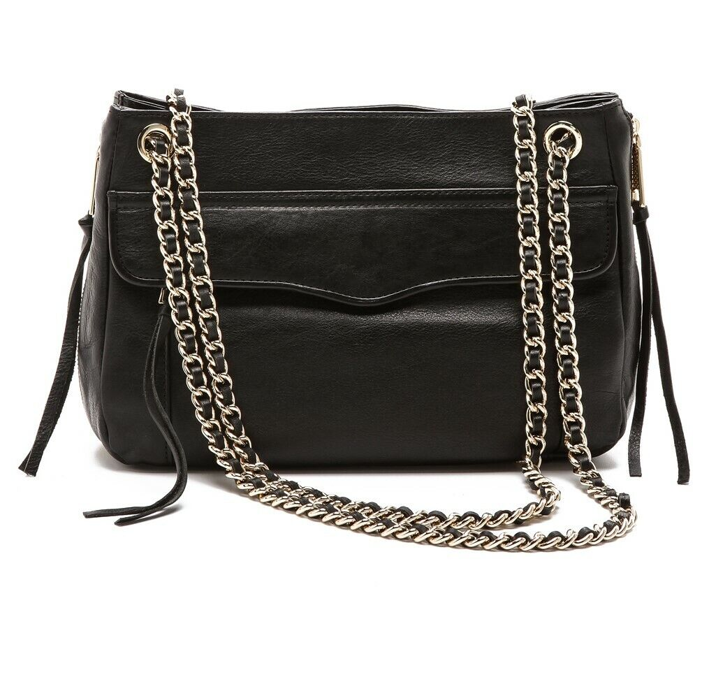 Nwt 295 Rebecca Minkoff Leather Black Side Zip Convertible Swing Shoulder Bag