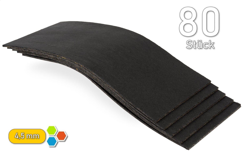 80 Bitumen 4,5mm Bitumenmatten 2m² Dämmung Antidröhn Orig. Akustik-MaXX - B4530