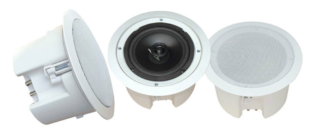 "PYLE 8"" 2-WAY IN-CEILING IN-WALL FLUSH MOUNT ENCLOSURE SPEAKER SYSTEM SUB NEW"