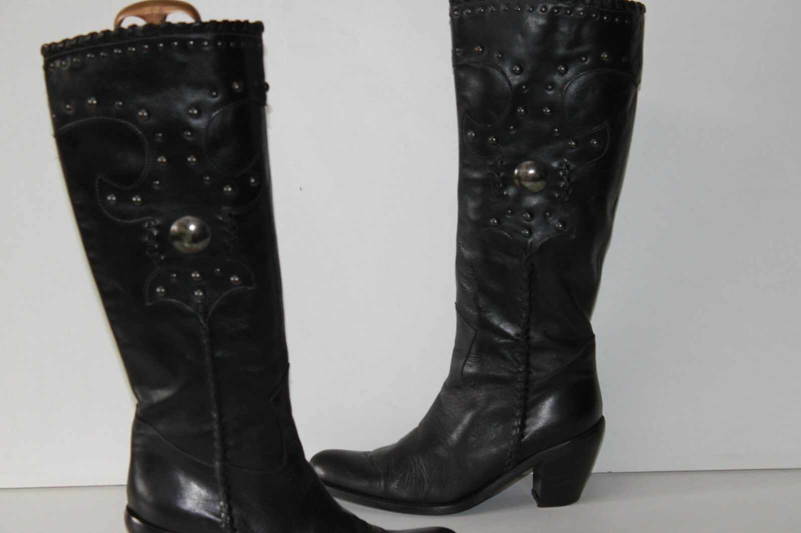 Heyraud riding boots leather lined black leather size 40 tbe
