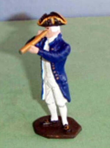 TOY SOLDIERS METAL AMERICAN REVOLUTION NAVY CAPTAIN WITH TELESCOPE 54MM