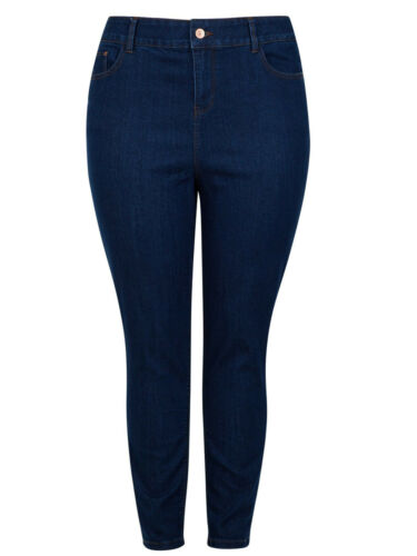 New Ladies New Look High Waist Curves Stretchy Denim Skinny Jeans Size 18-32
