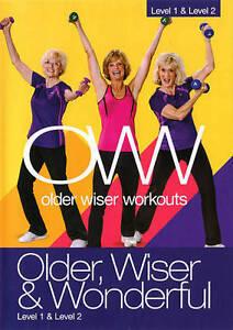 Older Wiser Workouts: Older, Wiser & Wonderful - Level 1  Level 2 (DVD, 2014)New