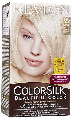 ColorSilk by Revlon Beautiful  Hair Color Ultra Light Ash Blonde 05 (Pack of 12)