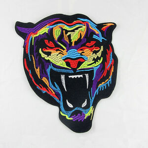 Tiger-Embroidered-Sew-On-Iron-On-Patches-Badge-Bag-Clothes-Fabric-Applique-Craft