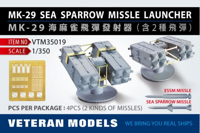 VETERAN 1/350 VTM-35019 MK-29 SEA SPARROW MISSLE LAUNCHER (2 Kinds of MISSLES)