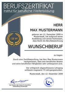 Berufszertifikat-Premium-Urkunde-Zertifikat-Auszeichnung-Geschenk-UK-691