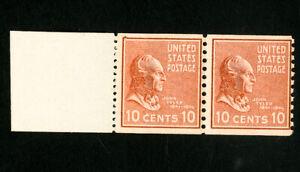 USA TIMBRES Nº 847 F + Fin de Rouleau Paire Original Gum jamais à charnière