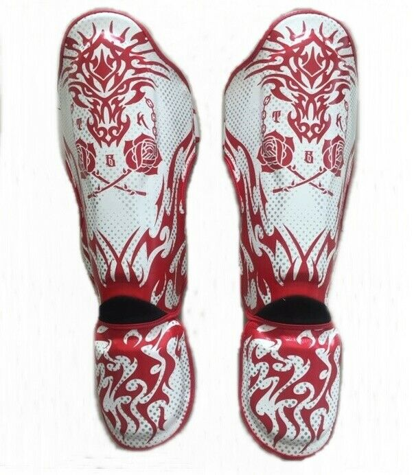 NEW TOP KING  SHIN GUARDS PADS PredECTOR RED pink  M L XL TRAINING MUAY THAI MMA  shop clearance