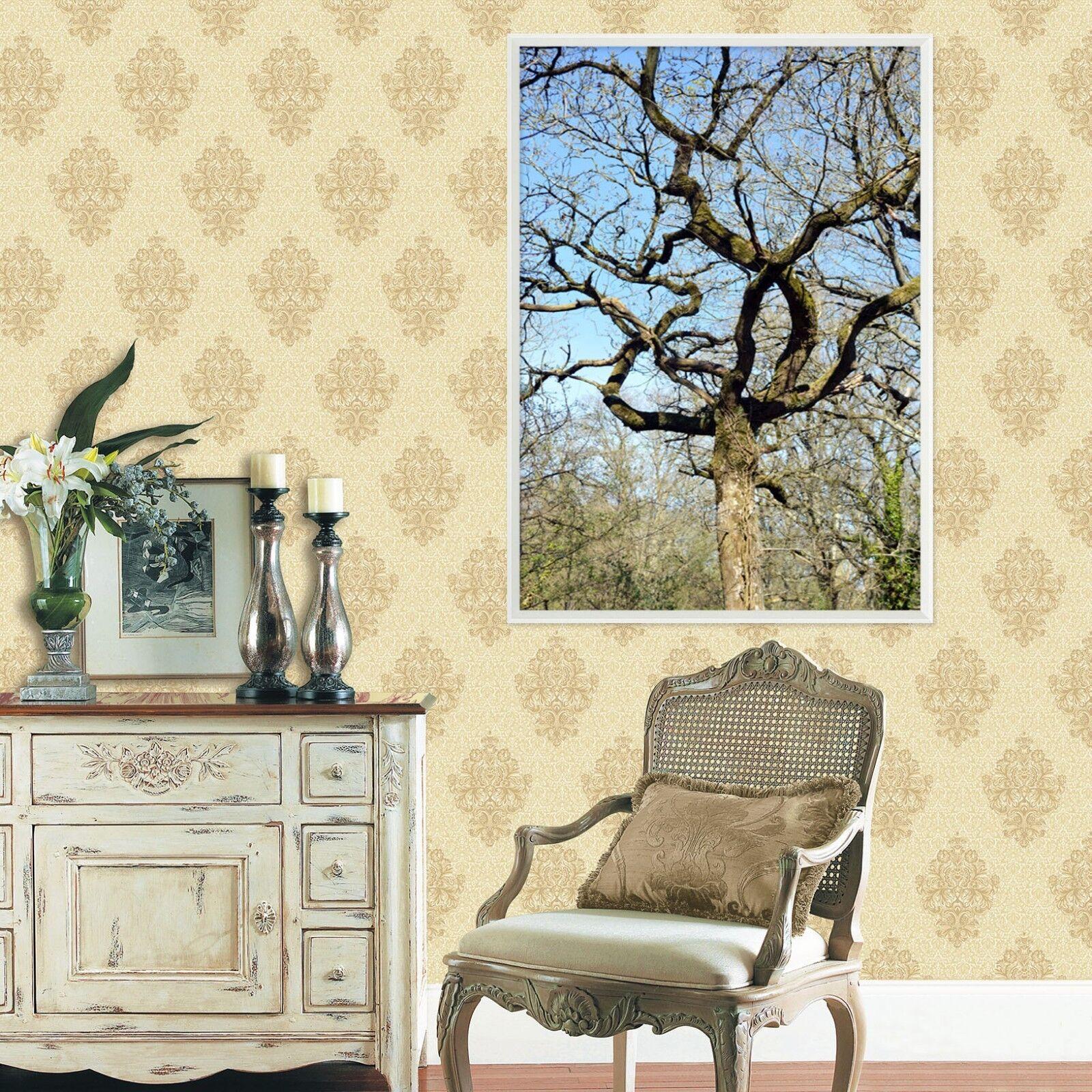 3D Nackt Baum 6 Gerahmt Poster Daheim Dekor Drucken Malerei Kunst AJ