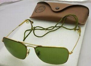 771b6dc98e1 Sunglasses Ray Ban B L USA caravan 58 16 frame gold color Vintage + ...