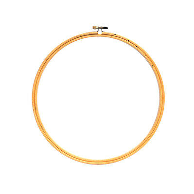 """Edmunds CNEH-10N Wood Embroidery Hoop W//Round Edges 10/""""-Natural"""