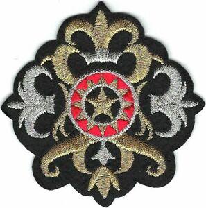 Royal Fleur de Lys Lis Crest Broderie Patch