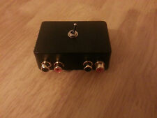 Aspho3 Audio Switcher Oro Phono I/p X2 Estéreo A 5 Pin Din 180 ° enchufe (Amp Entrada)