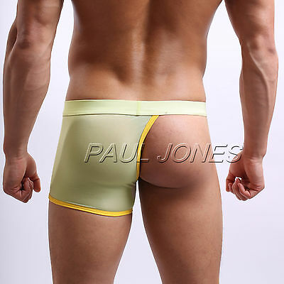 *3 OPTION* Men Sexy Lingerie Half-Cover Underwear Trunks Boxer Briefs Shorts S-L