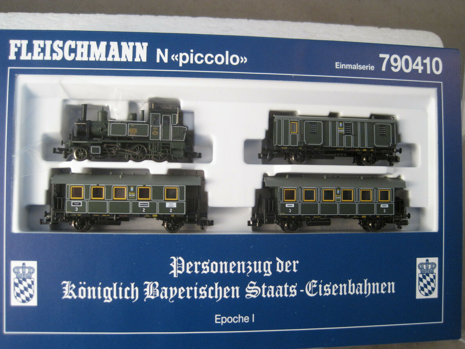 Fleischmann N   schönes Set 790410   wie neu mit OVP + Anleitung