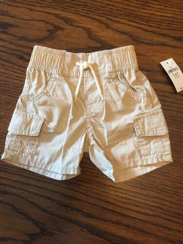 NEW-BABY GAP-Baby Boy-Size 3-6 Month-Khaki//tan-Pull on-cargo shorts