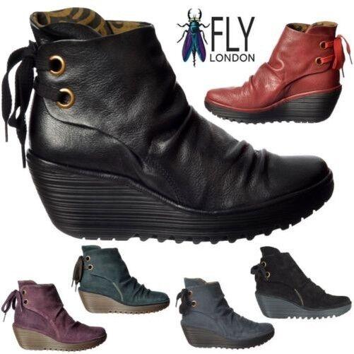 Damen Fly London Yama Stiefeletten Zum Hineinschlüpfen Geölt