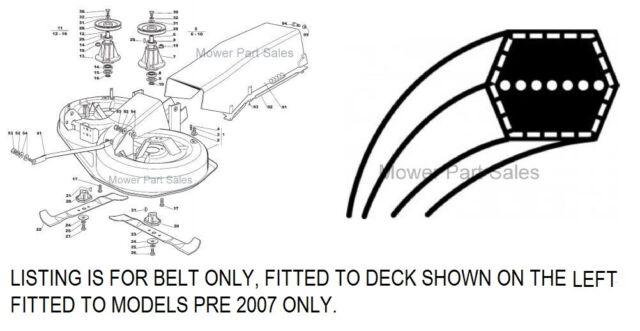 Keilriemen Honda HF2315 HF 2113 HF 2114 Messerantrieb 6kant AA85 2212mm