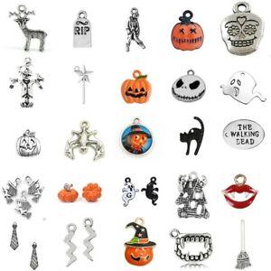 10 Tibetan Silver Pumpkin Pendant Charms Halloween Gothic