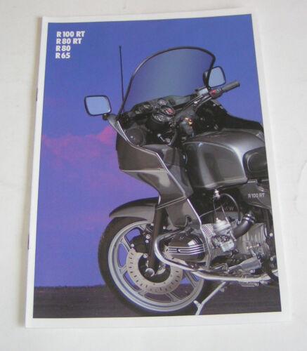 R 65-edizione 1989 R 80 RT R 80 Prospetto//opuscolo-BMW R 100 RT