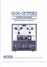Akai  Bedienungsanleitung user manual owners manual  für GX-370 D