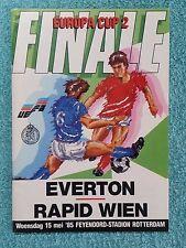 1985 - CUP WINNERS CUP FINAL PROGRAMME - EVERTON v RAPID VIENNA - ORIGINAL