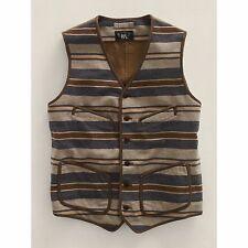 Ralph Lauren RRL Domingo Blanket Stripe Buckleback Vest Jacket XL New $590
