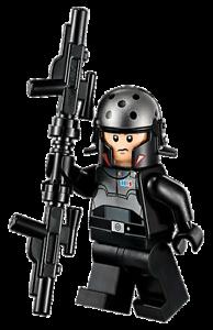 Lego Star Wars AGENT KALLUS Minifigure w// Blasters Gun 75158 75083 RARE