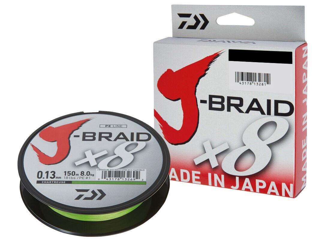 Daiwa J-Braid X8   300m   Chartreuse   PE braided line