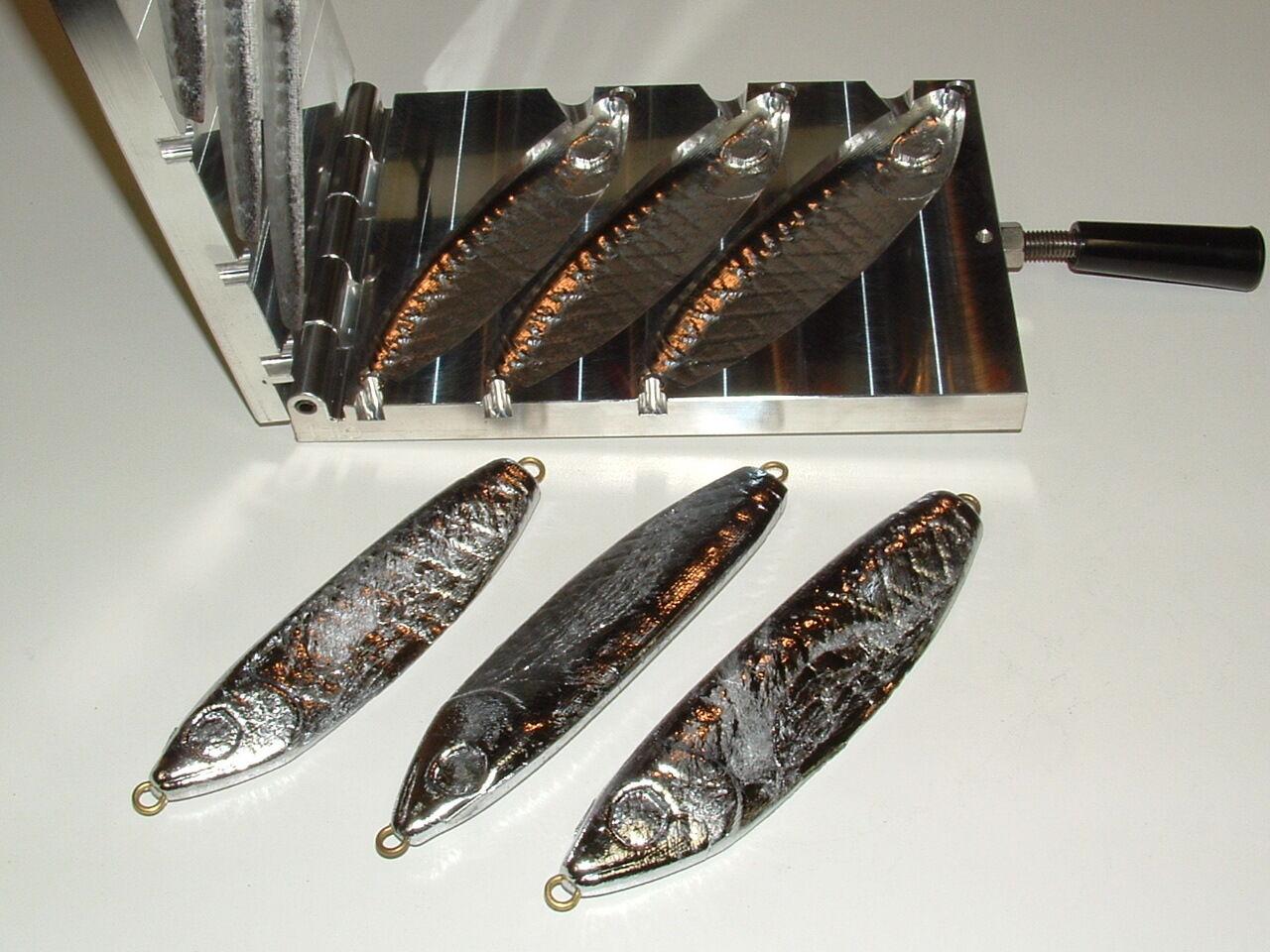 Saltwater Wobble Fish Jig mold 16,20,24oz CNC Aluminum Herring