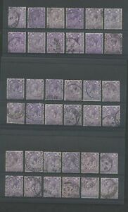 GB-KG5-ROYAL-CYPHER-3d-CDS-USED-2nds-36-stamps-RANGE-of-SHADES-Lot-2