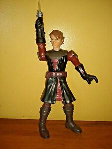 "Anakin Skywalker Star Wars Action Figure Hasbro 2009 12"" Talks & Lights Up"