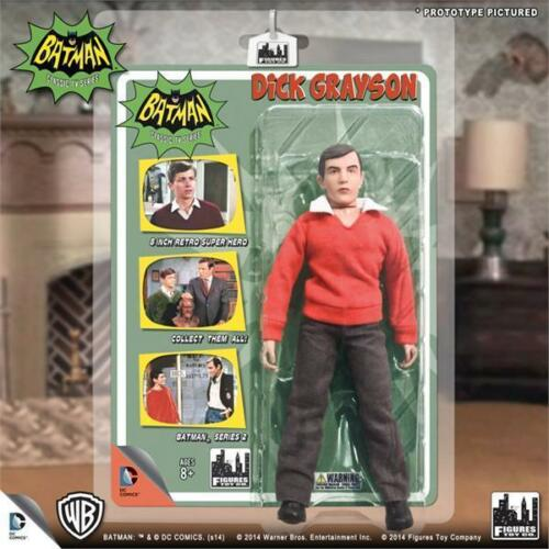 1966 BATMAN TV SERIES 2; DICK GRAYSON; 8 INCH ACTION FIGURE NEW MOSC