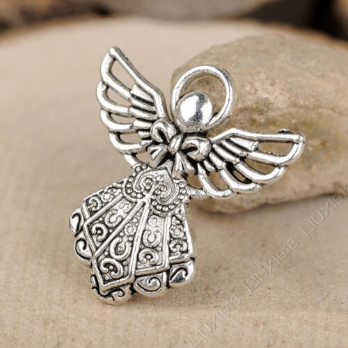 20pc Retro Tibetan Silver Angel Pendant Necklace Charms Jewelry Accessories P101