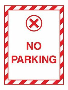 1x-No-Parking-Warning-Sticker-Decal-for-Safety-Door-Box-Home-Work-Car-Truck