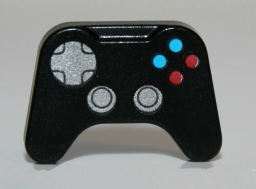 Lego Black Minifig Utensil Video Game Controller Silver Control Blue Red Button