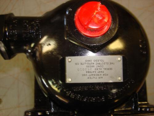 vintage aircraft air filter,skinner purifiers inc p//n 647984