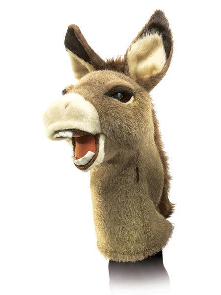 NEW PLUSH SOFT TOY Folkmanis 2908 Donkey Stage Hand Puppet