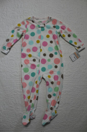 NEW GIRLS CARTERS FLEECE FOOTED PAJAMA SLEEPER NWT VARIOUS STYLES /& SIZES