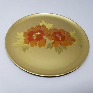 Hand Crafted Otagiri Original Japanese Decor Plate Gold Flower Gold Leaf Plastic