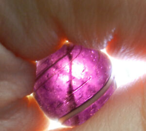 #13068m Vintage German Handmade Purple Maglight Indian Marble .65 Inches