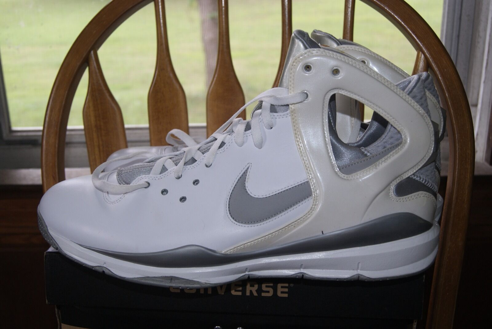 Nike huarache 08 - basketball - schuhe, weiße, graue turnschuhe 17,5