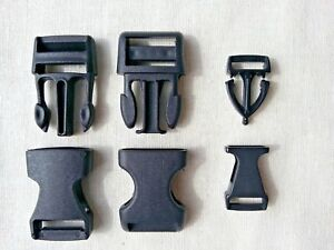 Black-Side-Quick-Release-Buckles-Fasteners-For-Webbing-Straps-10-15mm-Pack-of-2