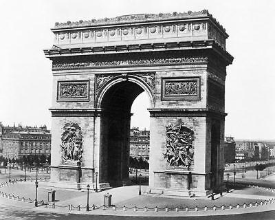 STATUE OF LIBERTY HEAD IN A PARIS PARK 1883 8x10 SILVER HALIDE PHOTO PRINT