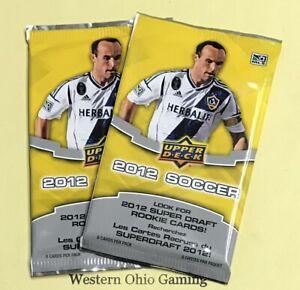 2012-Upper-Deck-Soccer-Pack-x-2-NEW-MLS-Football-Sports