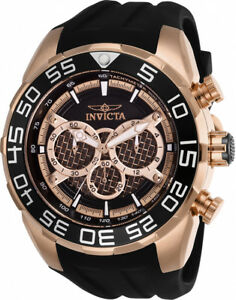 Invicta-Men-039-s-Speedway-Chrono-100m-Stainless-Steel-Black-Silicone-Watch-26304